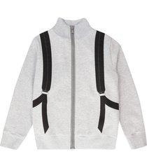 fendi cotton full zip hoodie
