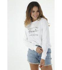 buzo para mujer tennis, de punto y estampado love is my favorite