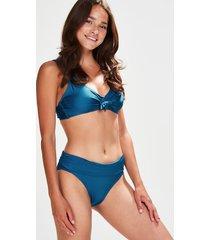 hunkemöller bikinitrosa med nedvikbar kant sunset dream blå