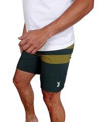 pantaloneta hurley phantom blackball para hombre - verde