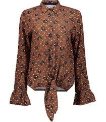 03608-40 blouse knot-ruffle cuff