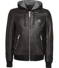 philipp plein lambskin jacket