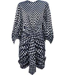 alexandre vauthier polka dot stretch satin mini dress