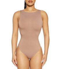 the nw boat-neck sleeveless bodysuit