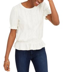 lucky brand banded pointelle top