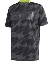 camiseta adidas jacquard masculina fm6052, cor: cinza/preto, tamanho: g - cinza - masculino - dafiti