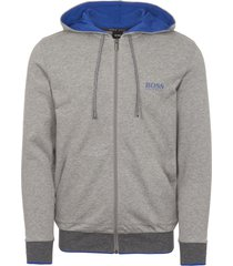 boss by hugo boss grey zip through sweatshirt 50372009