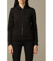 armani exchange sweater armani exchange sweatshirt with hood and zip