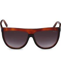 emilio pucci women's 60mm shield sunglasses - red