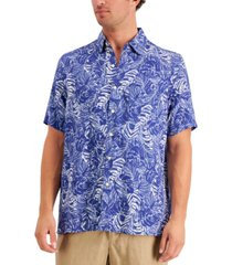 tasso elba island men's tropical print shirt, created for macy's
