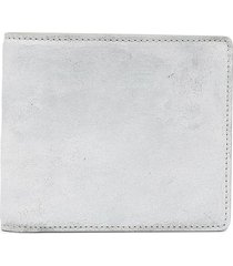 maison margiela distressed bifold wallet - white