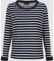 sweatshirt dress in marine::wit