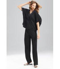 congo dolman pajamas, women's, black, size l, n natori