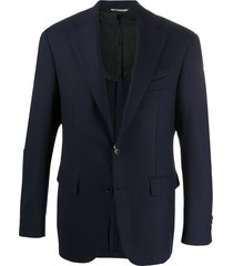 canali fitted formal blazer - blue