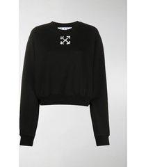 off-white spray arrow cropped sweatshirt