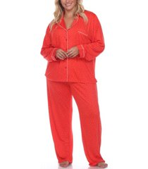 women's plus size pajama set, 2 piece