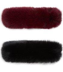made for generation 2-piece fox fur headband set