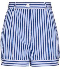 prada poplin bloomer shorts - blue