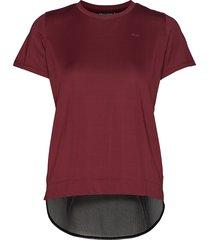 mesh back tee t-shirts & tops short-sleeved röd röhnisch