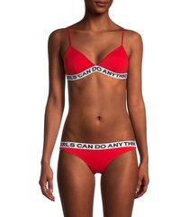 zadig & voltaire women's whitehaven bikini set - red - size 38 (m)