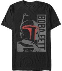 star wars men's classic boba fett helmet highlights short sleeve t-shirt