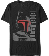 star wars men's classic boba fett helmet highlights short sleeve t-shirt