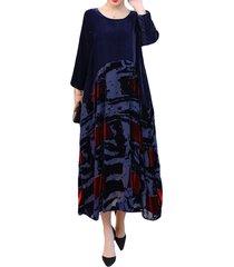 vestito cropped in velluto con patchwork