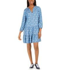 tommy hilfiger printed lyocell dress