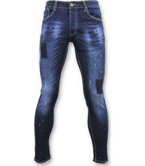 skinny jeans true rise strakke jeans - biker jeans -