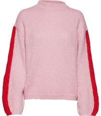 chunky knit gebreide trui roze lee jeans
