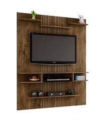 painel sigma p/ tvs até 55 polegadas madeira rústica/ripado móveis bechara marrom