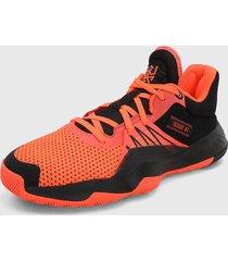 tenis basketball naranja-negro adidas performance don issue