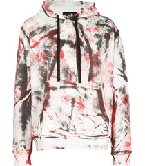 haculla hand painted hoodie - red