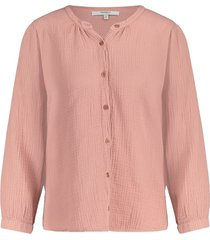 terracotta blouse oud s21f531