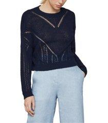 bcbgmaxazria open-knit pullover sweater