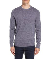 men's nordstrom men's shop cotton & cashmere crewneck sweater, size medium - blue
