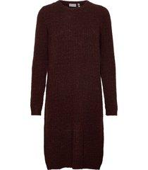 frmesandy 3 dress knälång klänning brun fransa
