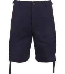 navy blue casual man shorts