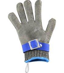 guantes resistentes a cortes de alambre de acero inoxidable de malla m