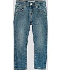 slim jeans med stretch - ljusblå