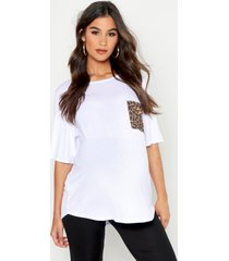 maternity leopard pocket t-shirt