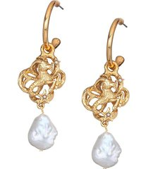 jennifer behr horoscope capricorn earrings - gold