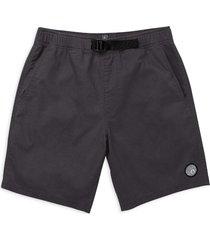 men's volcom men's mongrol elastic waist shorts, size xx-large - grey