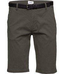 classic chino shorts w. belt shorts chinos shorts grön lindbergh