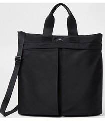 river island mens black double pocket shopper bag