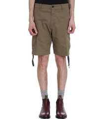 shorts in green cotton