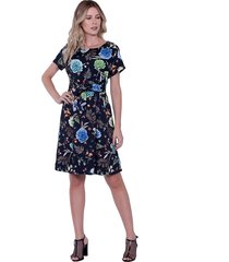 vestido love poetry preto/azul