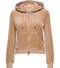 velouragenius hood jacket hoodie trui beige odd molly