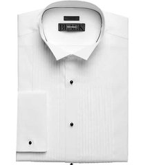 black by vera wang pleated men's formal shirt white - size: 16 1/2 32/33