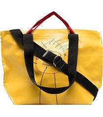 plan c hand drawing print shopper tote - yellow